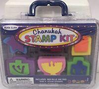 Rite Lite Chanukah Stamp Kit 5 Stamps + Ink Pad Hanukkah Dreidel Menorah