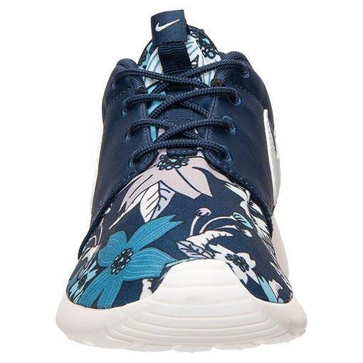 Nike para correr roshe entrenadores uno de imprimir Premium Size 8 Floral Azul Marino Raro Limitado Nuevo