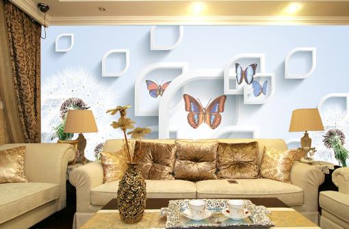 3D Plants Butterflys 9 Wall Paper Murals Wall Print Wall Wallpaper Mural AU Kyra