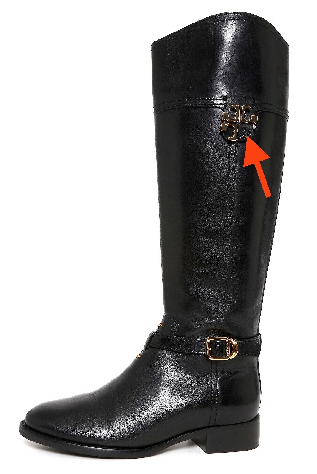 Tory Tory Tory Burch Eloise Leather Riding Boots Black Women Sz 6 M 1003 feb2ae