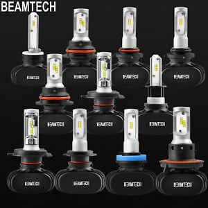 Fanless-H11-9005-9006-H4-H7-H13-LED-Headlights-Bulbs-High-Low-Beam-Fog-Light-Kit
