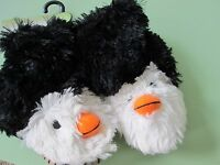 Hatley--toddler Girls Bootie /slouch Slippers --penguin--black--small (5-7)--new