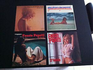 FAUSTO-PAPETTI-lot-4-disc-LP-raccolta-N-29-30-32-33-SEXY-NUDE-COVER-Rare-EX-NM
