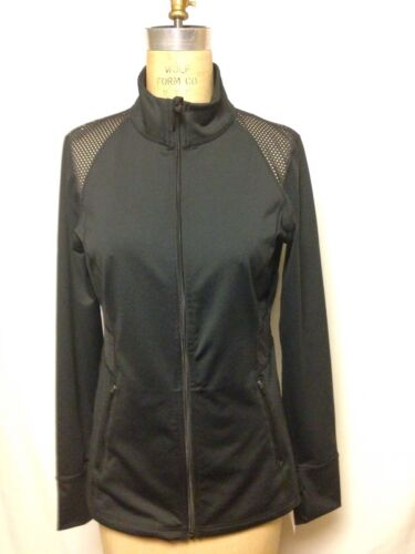 Details about  /Ideology Front Zip Fitness Jacket M Black 761099N250  NWT