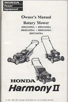 2002 Honda Rotary Mower Harmony Ii Owner's Manual (681)