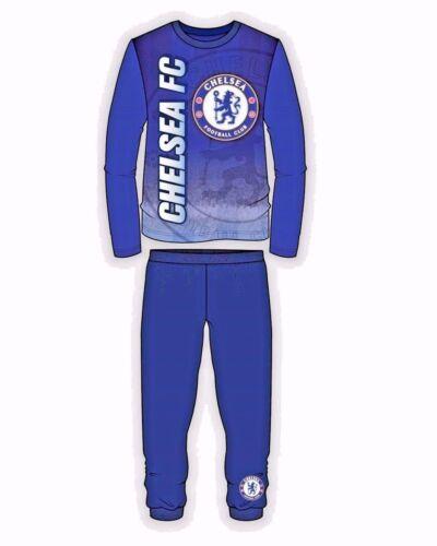 Garçons Chelsea FC Enfants Football Pyjamas Nightwear New Pyjama Set Pyjamas 4-12 ans