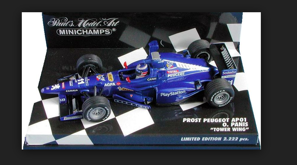Prost Peugeot O.Panis TOWER WING 1998  (430980041) Minichamps