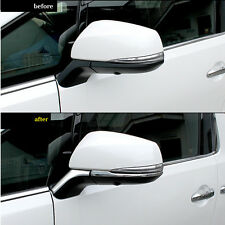 SUS304 Stainless Steel Rearview Mirror Trim For Toyota Vellfire Alphard 30 2015+