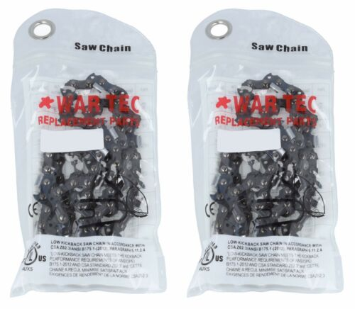 Chainsaw Chain Pack Of 2 Fits POWER PERFORMANCE PCS2200 3//8 .050 62 DL
