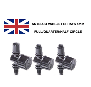 ANTELCO 4MM BARBED TEE CONNECTOR MICRO IRRIGATION FITTING PACK OF 10