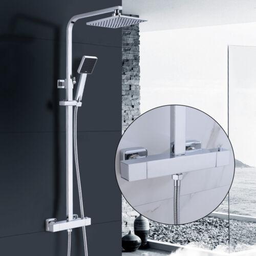 BONADE Duschsystem mit Thermostat Duscharmatur Regendusche Duschset Kopfbrause