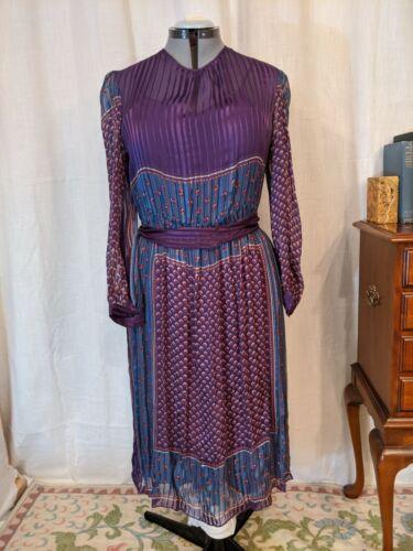 THE SILK FARM 100% Silk 2pc Dress Size 14