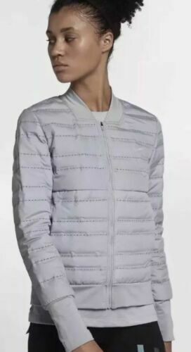 Nike Aeroloft Womens Running Jacket 856634 012 Grey Sz Medium for sale online | eBay