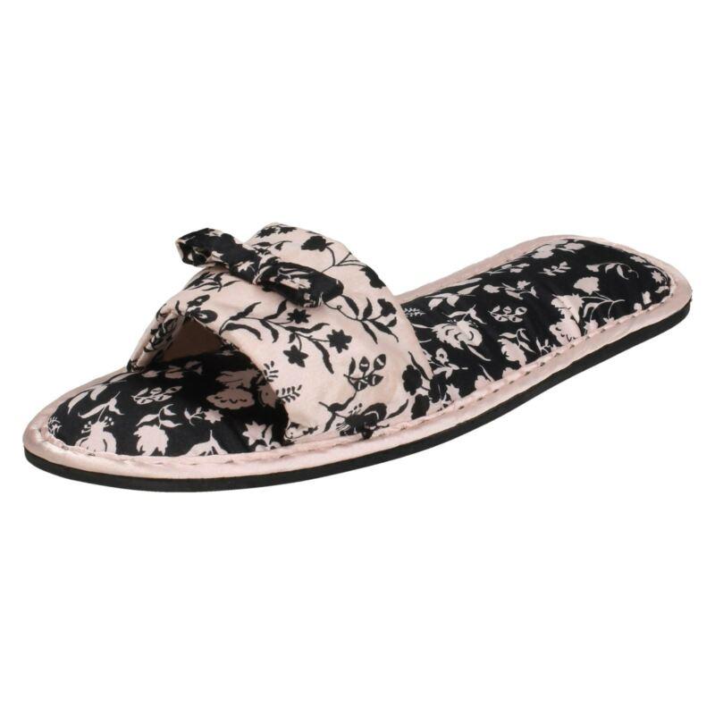 Ladies Spot On Stampa Floreale Pantofola Muli-x2r101