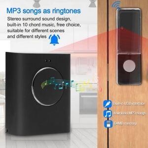200M Waterproof LED Wireless Doorbell Chime Door Bell MP3