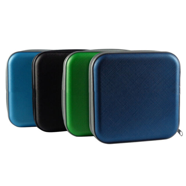 New 40 Disc CD DVD Storage Zipper Bag Case Hard Box Wallet Album Holder