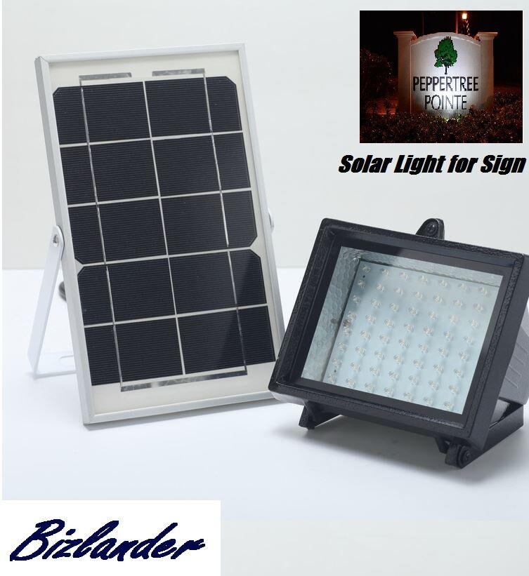 Bizlander ® 5 W 60LED Foco Luz Solar Cochega Solar al aire libre luz de Seguridad