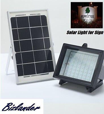 Bizlander 5W 60LED Solar Flood Light Commercial Grade Auto ON//OFF Solar Panel 30