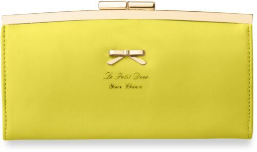 Geldbörse Schnappverschluss Clutch gelb einzigartiges Portemonnaie Damen