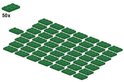2x3 3021-06 Green 50Stk Plates LEGO® - Platte Grün