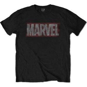 Marvel-Comics-Distressed-Box-Logo-Official-Merchandise-T-Shirt-M-L-XL-Neu