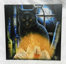 Bewitched - Black Cat - Mounted Canvas Print - Lisa Parker Design - BNIB