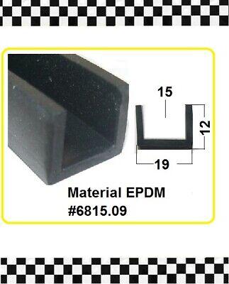 Systematisch 1m Muster Kantenschutzfür 15mm Gummidichtung Gummiprofil 6815.09 Aus Berlin