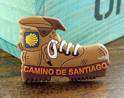Spain, Camino de Santiago, Climbing Boot Shaped Rubber Fridge Magnet Souvenir