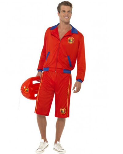 CL177 Baywatch Beach Men/'s Lifeguard Short Jacket Licensed Costume Outfit