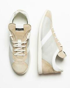 Kiton-Nib-Beige-Grigio-Bianco-Camoscio-pelle-Sneaker-Alla-Moda-Scarpe-7-USA