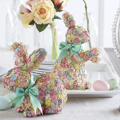 New Raz Imports 10 Flower Spring Easter Bunny Rabbit Set 2 Decor 48893018313 Ebay