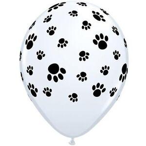 11-034-Paw-Prints-Latex-Balloons-Helium-Quality-Qualatex-Dog-Animals-Party-Birthday