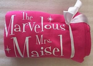 NEW-Amazon-Original-The-Marvelous-Mrs-Maisel-Blanket-Pink-White