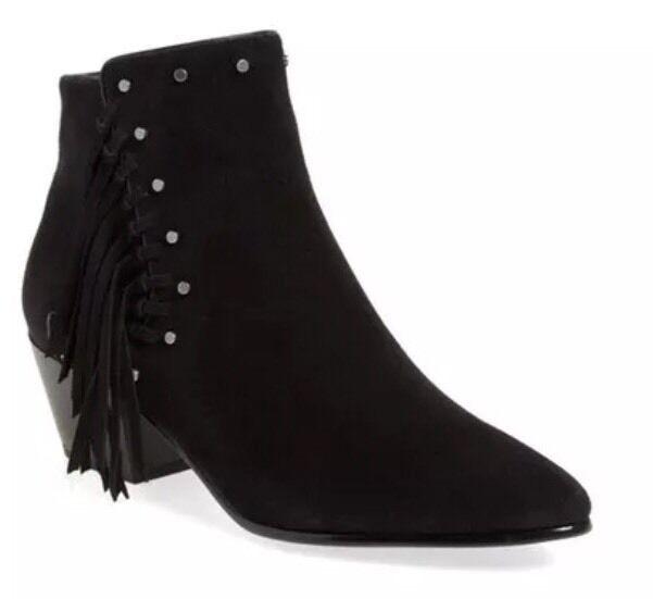 Sam Edelman Rudie Studded Fringe Black Bootie 7826 Size 10.5 M