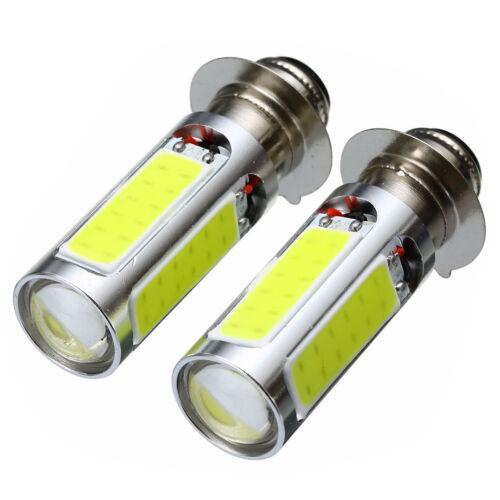 white cOB LED motor bike//ATV headlight bulb fog light H6M PX15d P15D25-1·E401 ZX