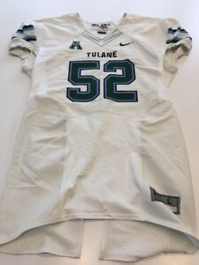 f7e69fc3d Game Worn Used Nike Tulane Green Wave Football Jersey Size Large  52 ...