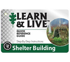 Ust Learn and Live Shelter Building Cards Pocket How To Guide with Photos