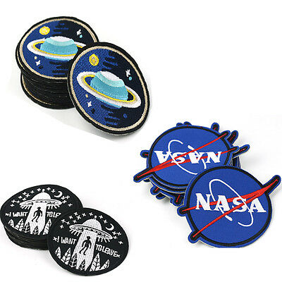Embroidery NASA Planet Star Sew Iron On Patch Badge Applique DIY Rock Cool