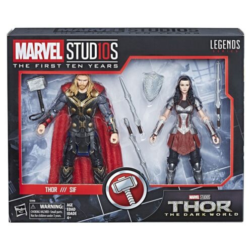 MARVEL STUDIOS THE FIRST TEN YEARS THE DARK WORLD THOR /& SIF 2-PACK FIGURE