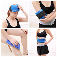 Hot Cold Reusable Gel Ice Pack With Strap Pain Relief, Blue Color