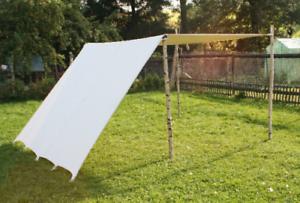 Reenactment-Weisszelt-LARP-Sonnensegel-Lagerplane-Mittelalter-Zelt-Wikinger-tarp