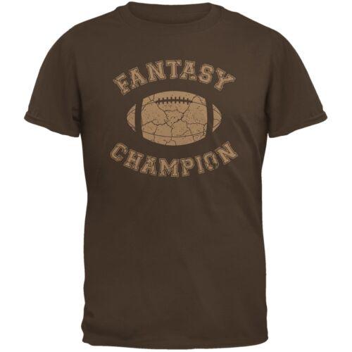 Fantasy Football Distressed Champion Brown Adult T-Shirt