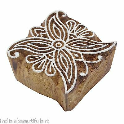 Wooden Printing Blocks Indian Hand Carved Textile Fabric Stamps 9989