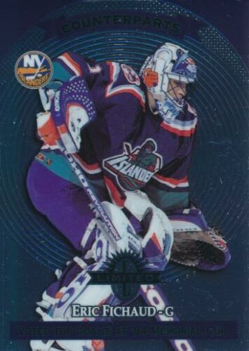 97-98 Donruss Limited #124 eric fichaud-New York Islanders Krefeld pingüinos