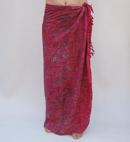 SAL510P Sarong Premium Qualität in Übergröße Pareo Sari Wandbehang Wickelrock