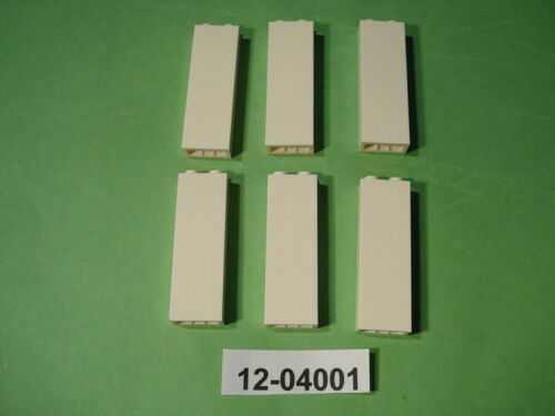 6 x Stein Säulenstein Wandstein Säule 1x2x5 weiß 2454 - NEU 04001 LEGO