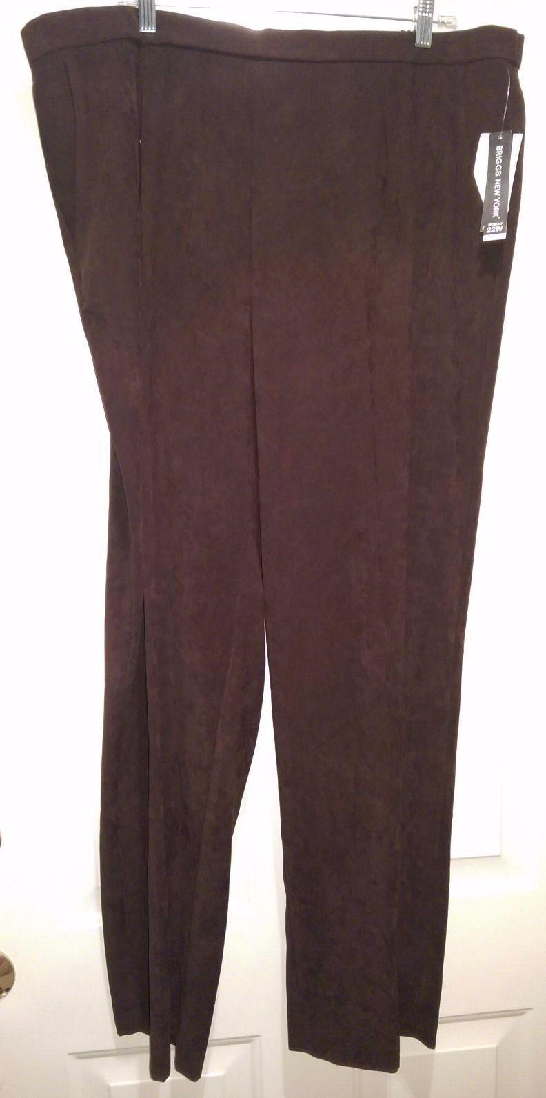 Briggs New York NWT damen braun Pants Größe 22W