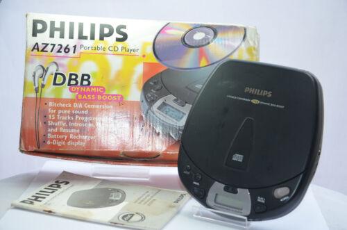 PHILIPS Portable CD Player AZ7261 DBB Walkman Discman BOXED 4U2FIX NOT WORKING