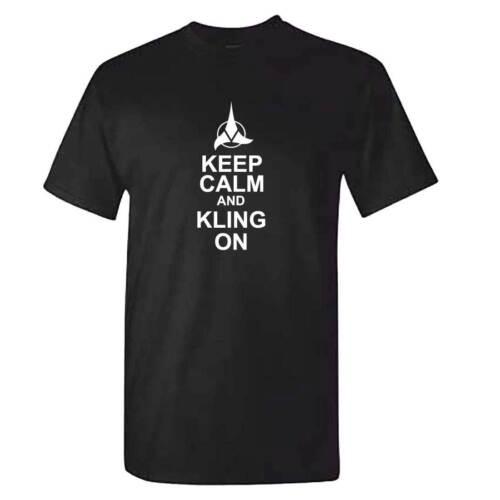 Keep Calm and Klingon T Shirt-Homme Garçons Startrek Spock SYFY-Star Trek T-Shirt