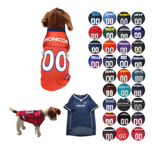 283cf27bc NFL Dog Jersey 31 Pick Your Teams Sports Game Shirt for Dogs XS-2XL ...